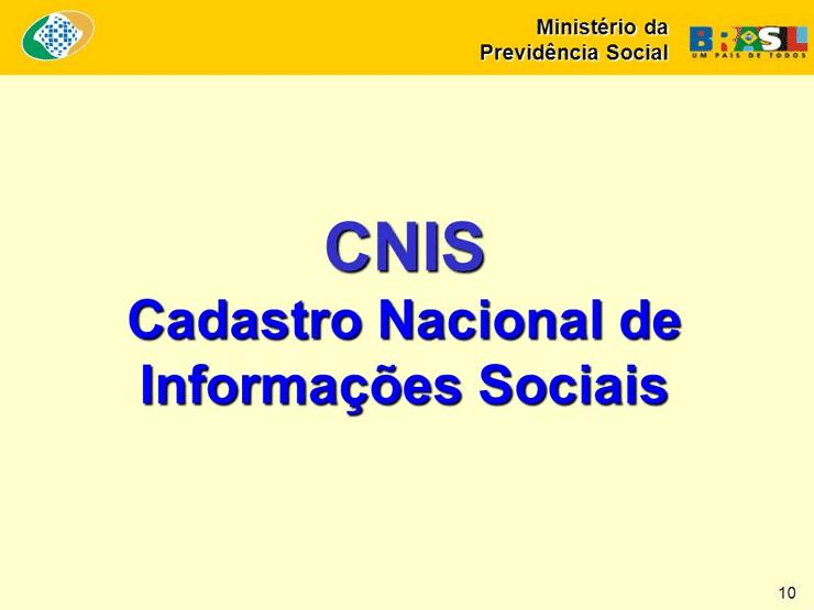 CNIS Cadastro Extrato