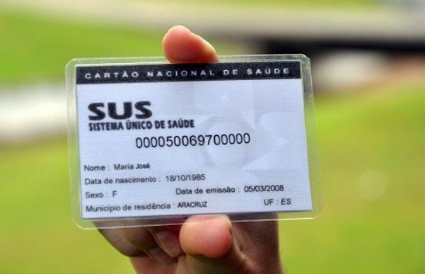 Como fazer cartão Sus